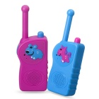 E-SMART TD-417 0.5W 3V Walkie Talkies for Children -Pink + Blue (2PCS)