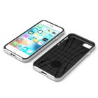 Protective PC + TPU Back Case for IPHONE 7 - Black + Silver