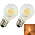 YouOKLight E27 6-COB 6W Warm White Edison Globe Bulbs AC 85~265V 2PCS