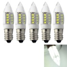 JRLED E14 3W 2835 27-LED Cold White Ceramic Bulb Lamps (5pcs)