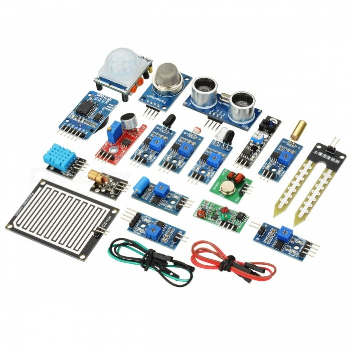 16-In-1 Sensor Module Kit for Raspberry Pi 3B / 2B / B+ - Blue