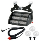 6W 4-Mode 600lm 18-LED Cold White Strobe Police Emergency Flashing Warning Light for Car