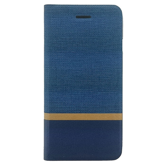 TPU + PU Leather Card Slot Case for IPHONE 7 - Blue + Orange