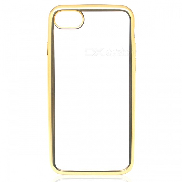 Electroplating TPU Back Case Cover for IPHONE 7 - Golden + Transparent