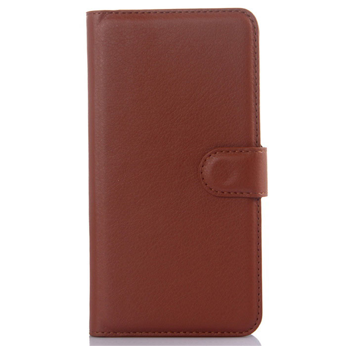Lichee Pattern Protective Case for Xiaomi Redmi Note 2 - Brown