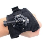 360 Degree Rotatable Wrist Palm Band for GoPro 4 / 3+ / 3 / 2 - Black