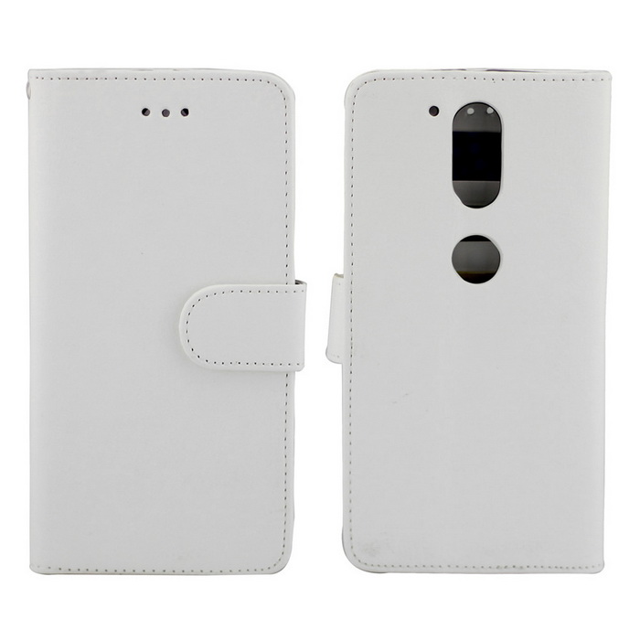 PU Leather Case w/ Card Slot for Motorola Moto G4/Moto G4 Plus - White