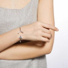 SILVERAGE Cupid Arrow Cubic Zirconia Adjustable Cuff Bracelet - Silver