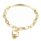 SILVERAGE Kullattu Love Heart Charm Rannekoru-Rose Golden