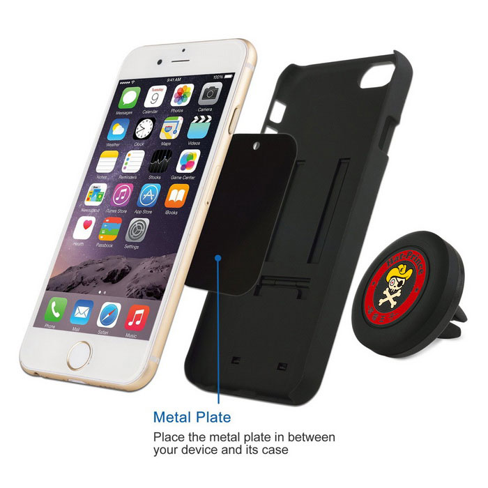 Hat-Prince Universal Car Magnetic Air Vent Phone Mount Holder - Black