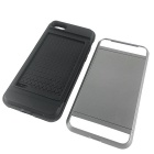 TPU + PC Card Slot Case for IPHONE 7 - Silvery White + Black