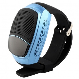 B90 Bluetooth Portable Mini Audio Movement Watch Music Speaker - Black
