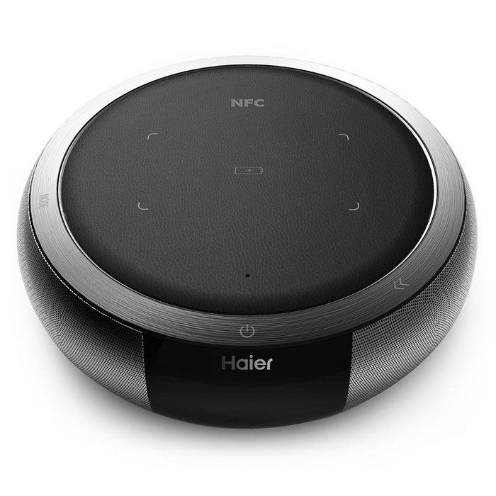 Haier WZST503 Intelligent Wireless Charging Bluetooth Speaker - Grey