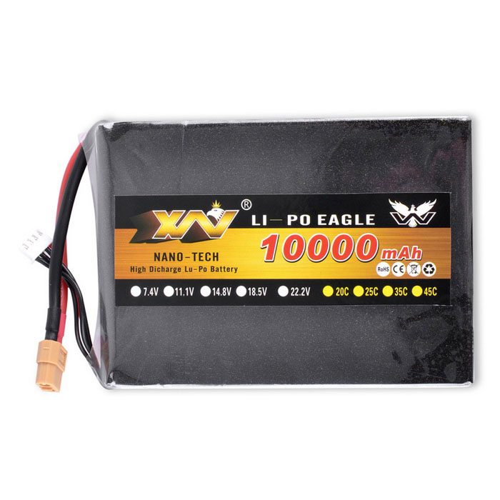 11.1V 10000mAh  XT60 135*97*25mm Golden Cover Lipo Battery
