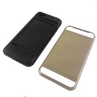 TPU + PC card caso slot para IPHONE 7 - ouro + preto