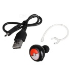 Stylish Bluetooth V4.1 In-Ear Headset w/ Voice Prompt - Black