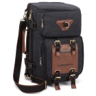 KAUKKO FH05 22L Men's Multi-function Canvas Backpack - Black