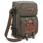 KAUKKO FH05 22L Men's Multi-function Canvas Backpack - Army Green