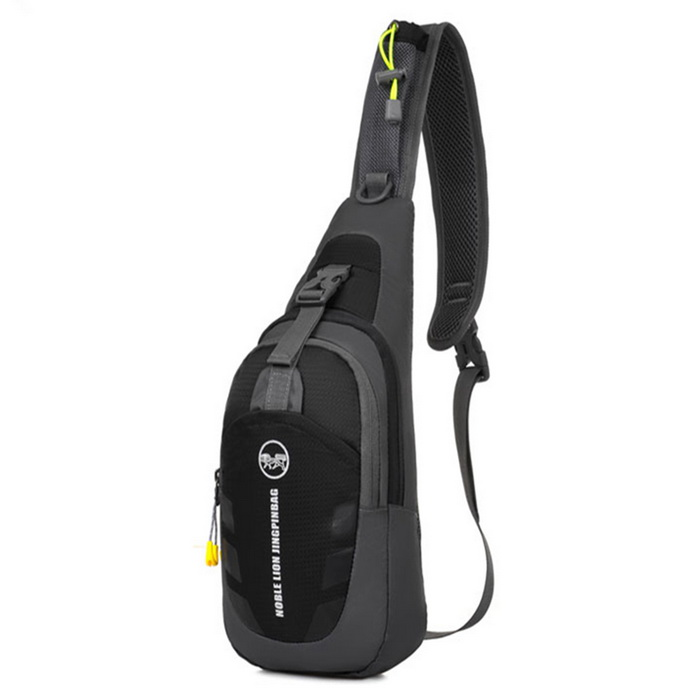Outdoor Multifunction Shoulder Bag Leisure Chest Bag - Black