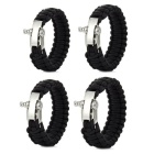 Outdoor Camping / Travel Stainless Steel Safety Buckle Bracelet Kits (4 PCS)