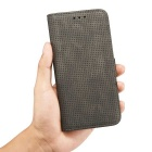 Mesh PC + PU Flip Wallet Case for IPHONE 7 Plus - Black