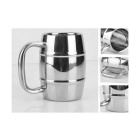 Stainless Steel Coffee Mug - Bright Silvery Grey (350ml)