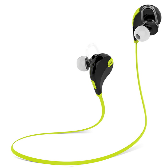 QCY QY7 Bluetooth 4.1 inalámbrico deportes auriculares estéreo w / MIC - Verde