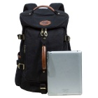 KAUKKO FS224 23L Casual Style Unisex Canvas Backpack - Black