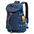 KAUKKO FS224 23L Casual Style Unisex Canvas Backpack - Blue