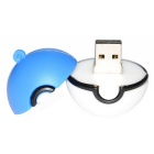Poke Ball Style USB 2.0 Flash Drive - Blue + White (32GB)