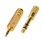 Kitbon 6.35mm + Stereo 3.5mm Audio Adapter Converter Plugs - Golden