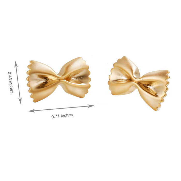 SILVERAGE Gold Tone Bow Stud Earrings
