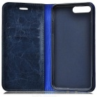 PU Full Body Case w/ Stand, Card Slots for IPHONE 7 PLUS - Blue