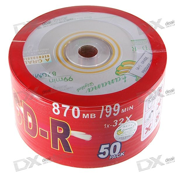 RIS 99 minutes 870MB Ultra-High Capacity CD-R 50-Pack SpindleCD/DVD<br><br>