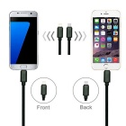 Micro USB / 8 Pin Nylon Charging Cable + Type-C to Micro USB Adapter