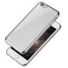Plating Transparent TPU Back Case for IPHONE 6/6S - Silver