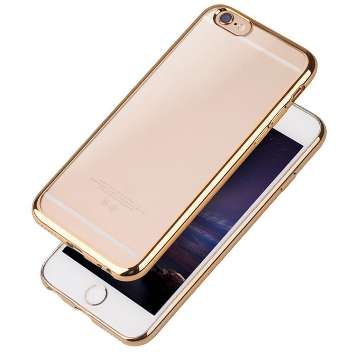 Plating Transparent TPU Back Case for IPHONE 6/6S - Golden