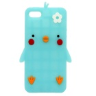 Cartoon Pattern Silicone Case for iPhone SE/5S/5 - Luminous Blue