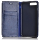 Flip Open PU Full Body Case w/ Card Slots for IPHONE 7 PLUS - Blue