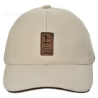 Unisex Outdoor Casual Cotton Sports Baseball Cap - Beige