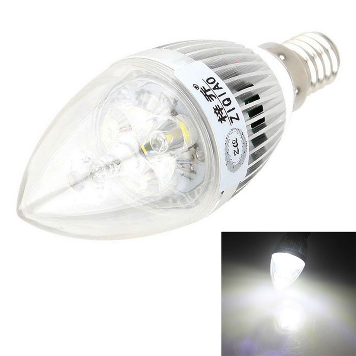 ZIQIAO JP1003 Cree 3W Cold White High-Power LED Candle Light Bulb Lamp