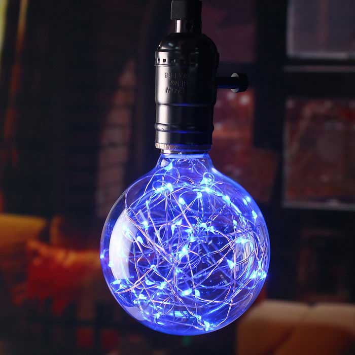 HESSION E27 Vintage Globe Bulbs LED String Light Blue Light (4 PCS)