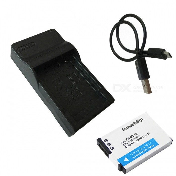ismartdigi EL12 1050mAh Battery + Micro USB MobileCharger