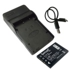 ismartdigi FNP60 1000mAh Battery + Micro USB Mobile  Charger - Black