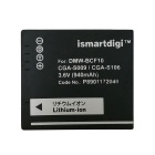 ismartdigi BCF10E 940mAh Battery + Micro USB Mobile Charger - Black