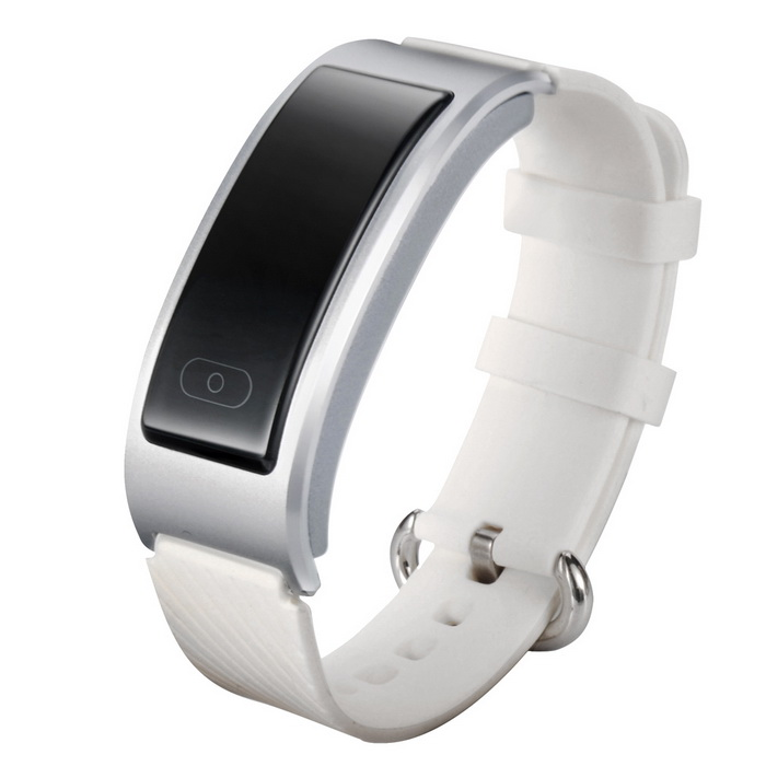 DF23 Waterproof Bluetooth Smart Band w/ Heart Rate Monitor - Silver