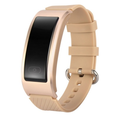 DF23 Waterproof IP68 Bluetooth Smart Band w/ Heart Rate Monitor - Gold