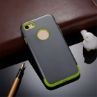 "Protective PC + TPU Back Case Cover for Iphone 7 4.7"" - Grey + Green"