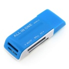 Multifunction 4 in 1 TF / SD / M2 / MS 2.0 Card Reader - Blue