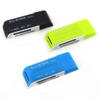 Multifunction 4 in 1 TF / SD / M2 / MS 2.0 Card Reader - Green